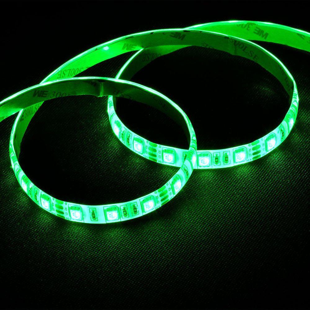 Fita de Led Gabinete PC Gamer Verde c/ Conexão Molex 1 metro