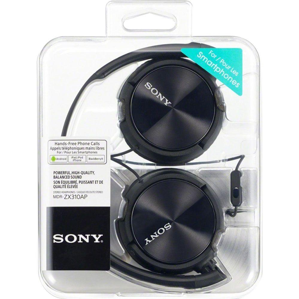 Fone de Ouvido com Microfone - Preto - SONY