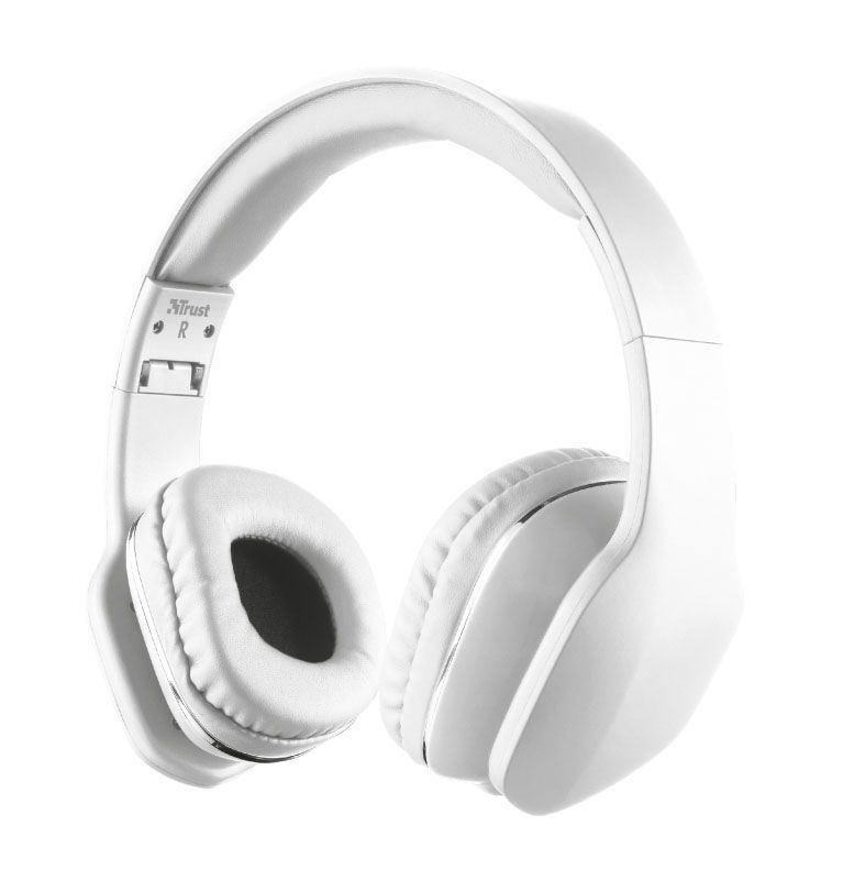 Fone de Ouvido com Microfone - Mobi Branco - Trust