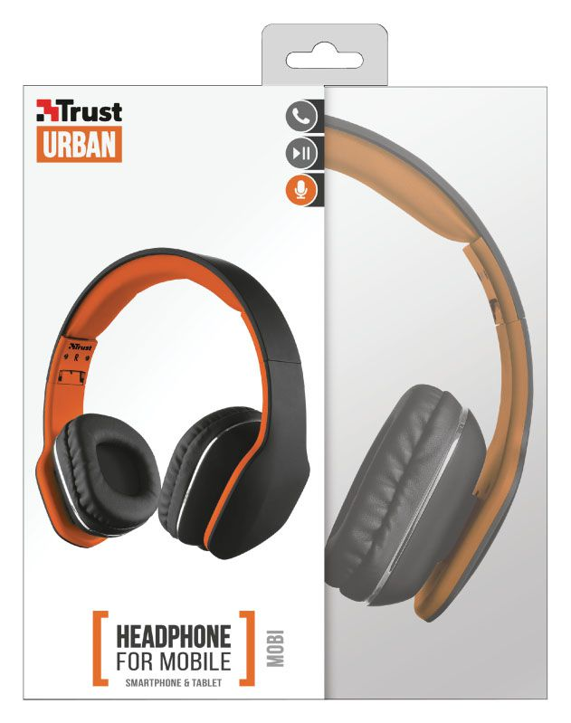 Fone de Ouvido com Microfone - Mobi Preto - Trust
