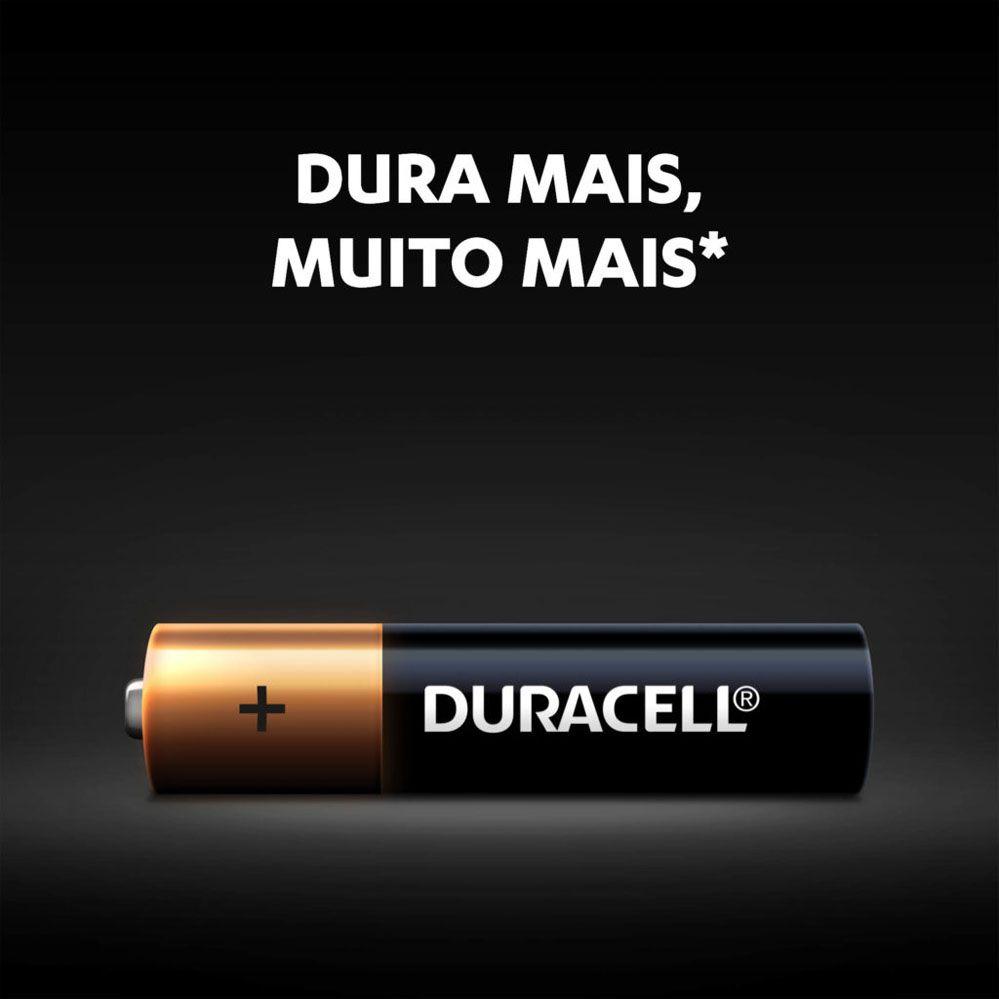 Kit Duracell Duralock Pilha Alcalina AA (pequena) C/ 16 Unidades