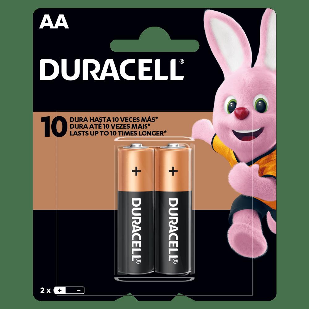 Kit Duracell Duralock Pilha Alcalina AA (pequena) C/ 2 Unidades