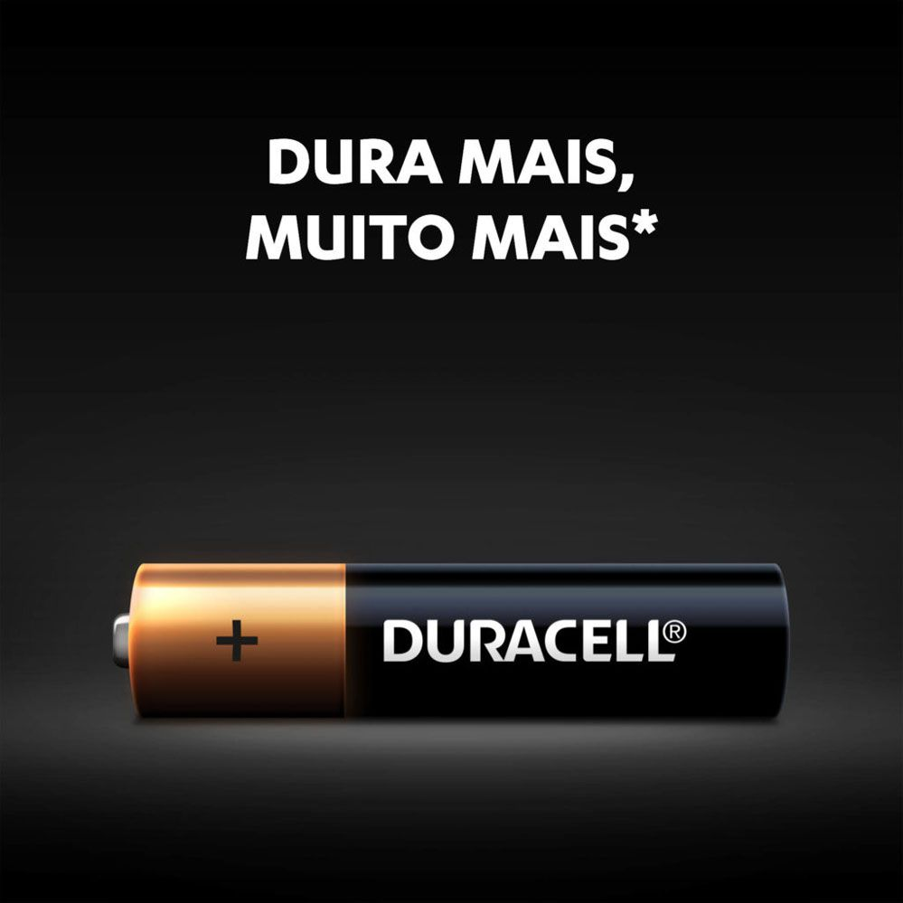 Kit Duracell Duralock Pilha Alcalina AA (pequena) C/ 4 Unidades
