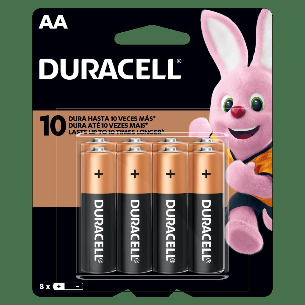 Kit Duracell Duralock Pilha Alcalina AA (pequena) C/ 8 Unidades