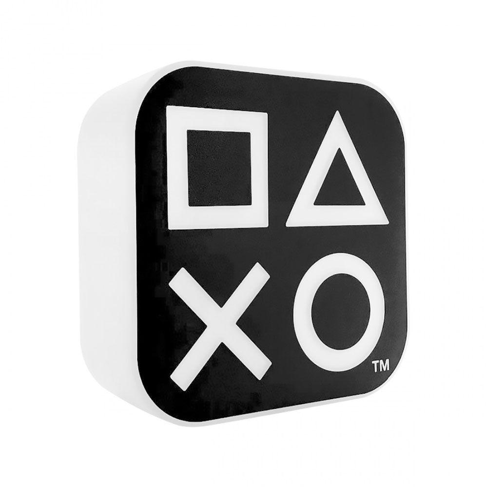 Luminária Abajur Playstation Box Ícones Preto