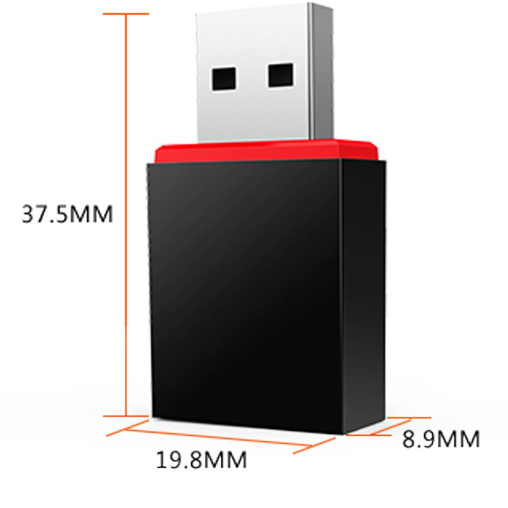 Mini Adaptador USB Wireless de 300 Mbps - U3 - Tenda