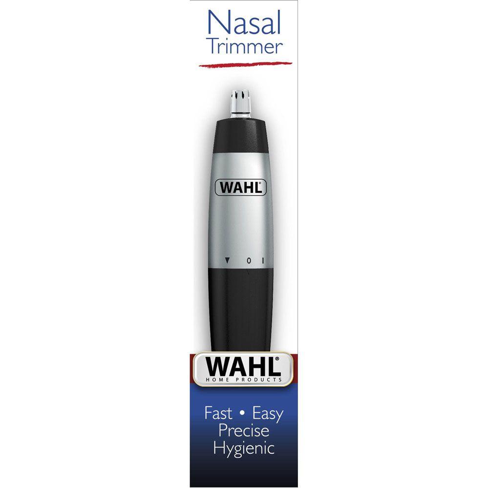 Mini Aparador de Pelos Faciais À Pilha NASAL Preto/Cinza WAHL