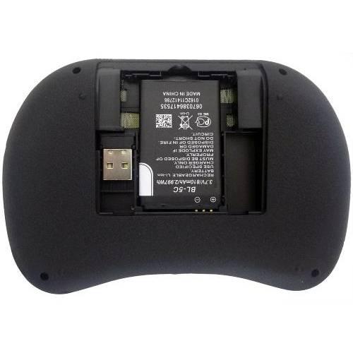 Mini Teclado Sem Fio Com Touchpad Mouse Ideal Para Smart Tv Pc Notebook - Preto
