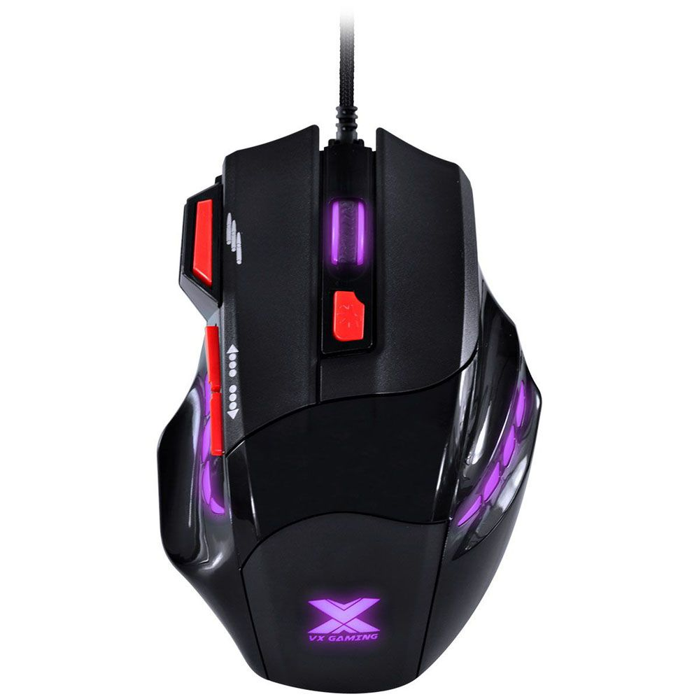 Mouse Gamer - Black Widow - 6 botões - 2400 DPI - PT/VM - Vinik