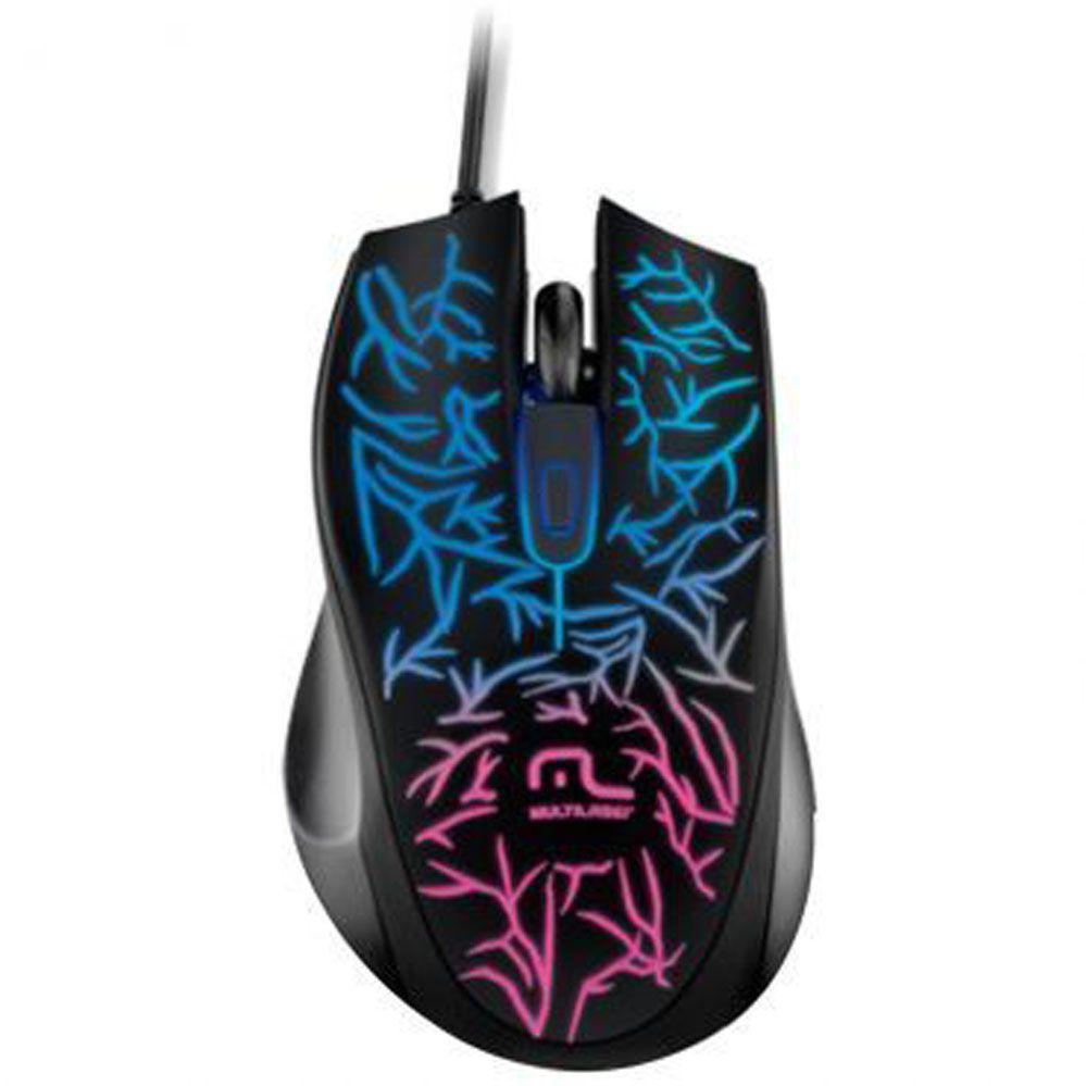 Mouse Gamer - Fusion USB 1000 DPI - Multilaser