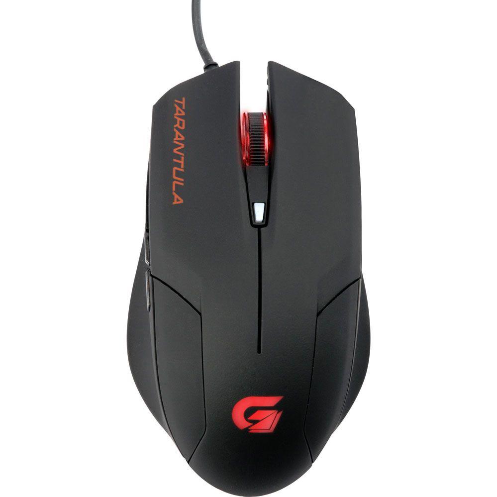 Mouse Gamer - SPIDER TARANTULA - 2000 DPI - Preto/Vermelho - FORTREK