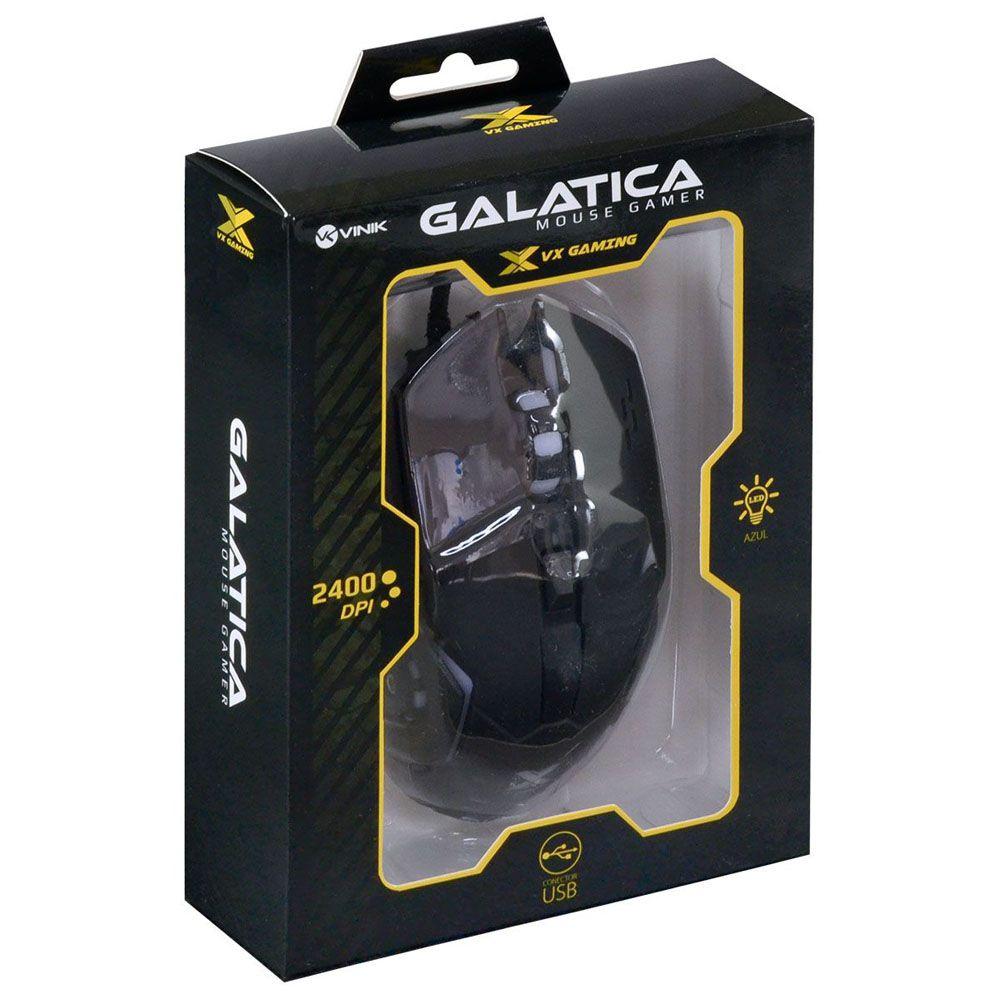 Mouse Gamer - VX Galatica - 6 botões - 2400 DPI - AZ - Vinik