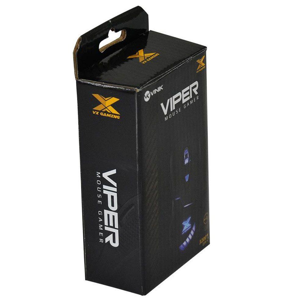 Mouse Gamer - VX Viper - 6 botões - 3200 DPI - Vinik