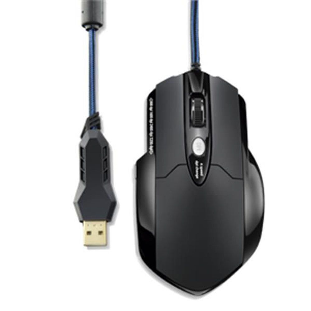 Mouse Gamer - Warrior Pro - 8 Botões - 3200 DPI + Mouse Pad - Multilaser