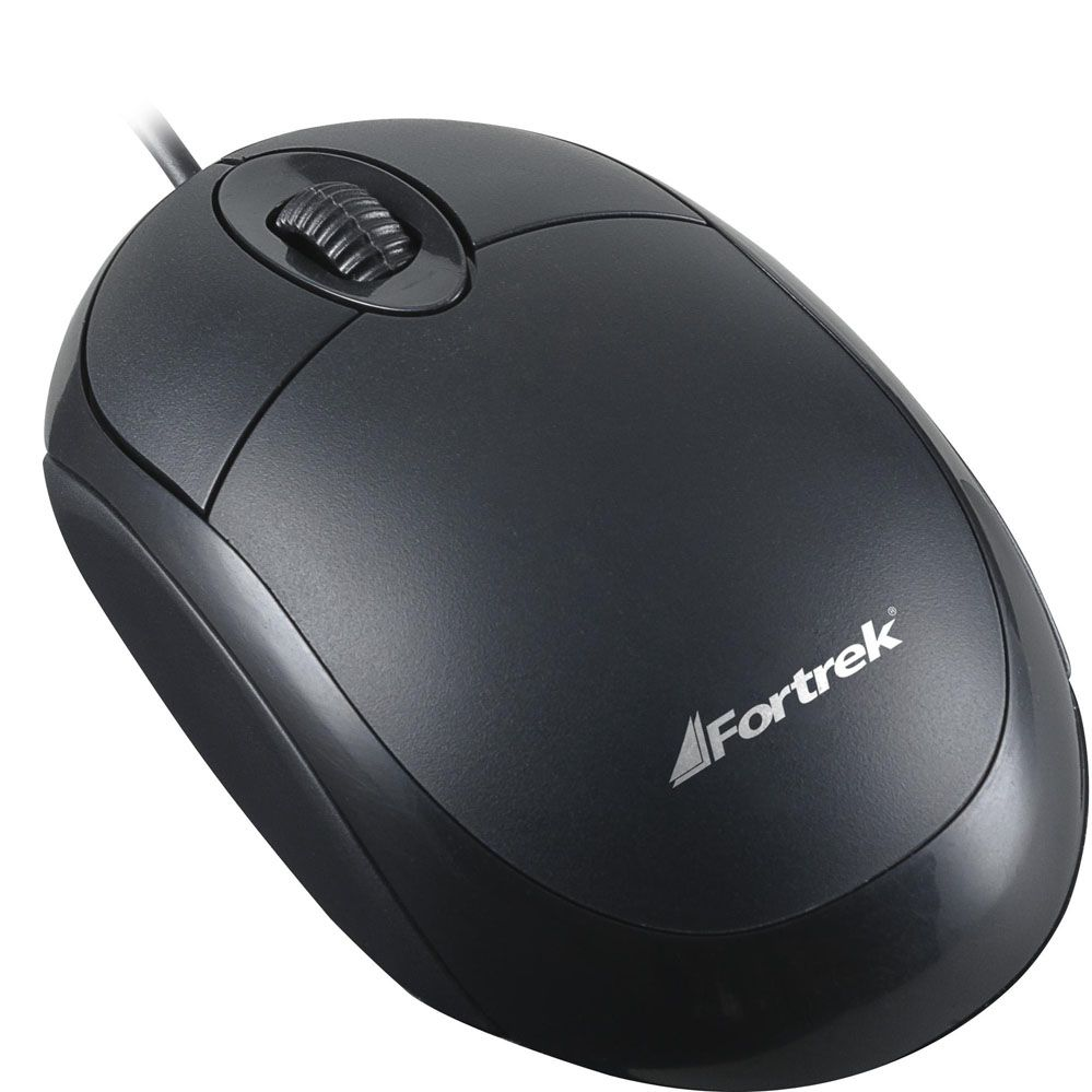 Mouse Óptico USB - OML-101 - Preto - FORTREK