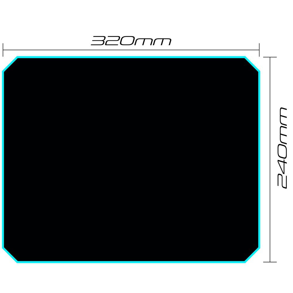 Mouse Pad Gamer - 320x240mm - SPEED MPG101 Preto - FORTREK