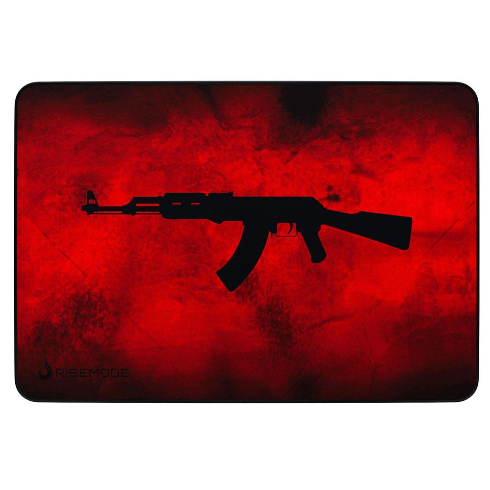 Mouse Pad Gamer - Médio - 290x210mm - AK47 - Red - Rise Mode