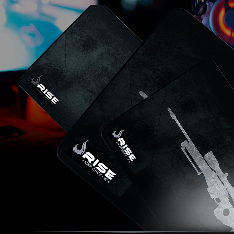 Mouse Pad Gamer - Médio - 290x210mm - Sniper Grey - Rise Mode