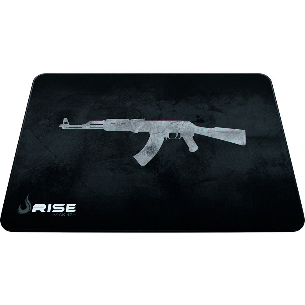 Mouse Pad Gamer - Médio - 290x210mm - AK47 - Grey - Rise Mode
