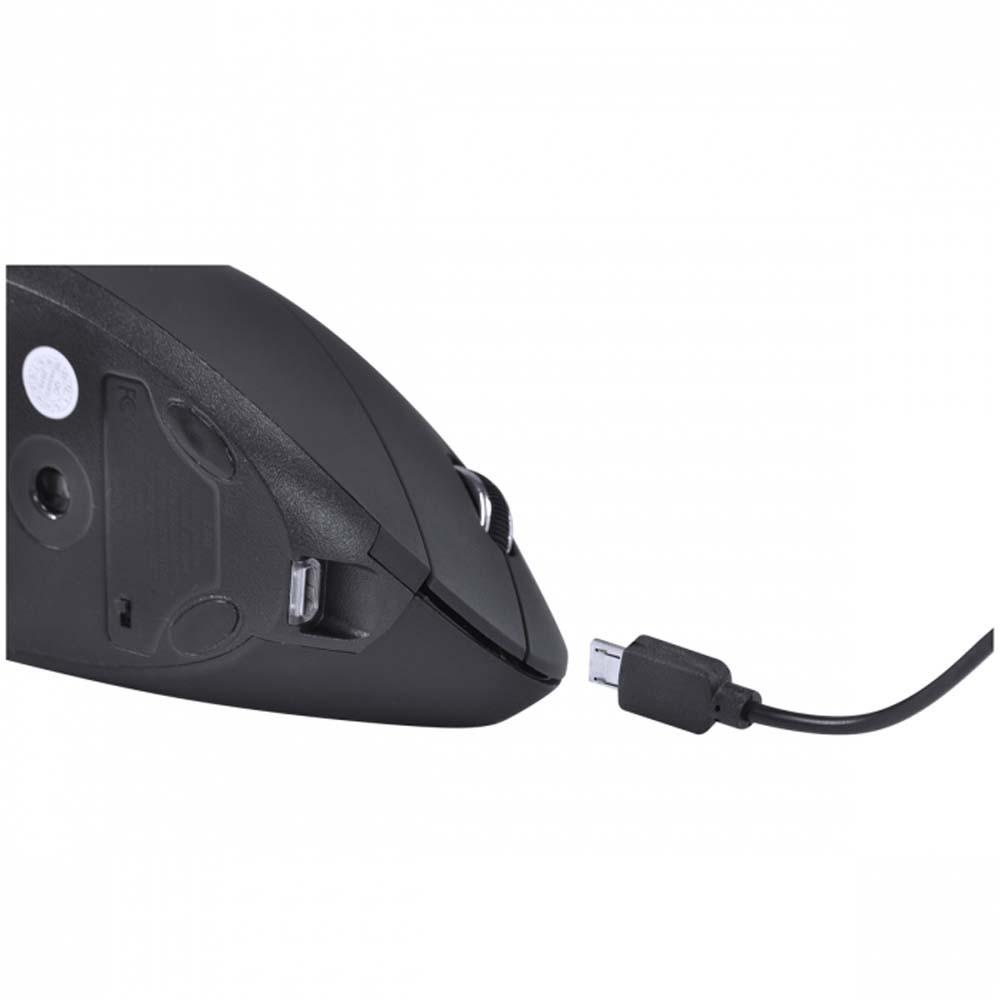 Mouse Vertical Sem Fio Power Fit 1600 DPI VINIK