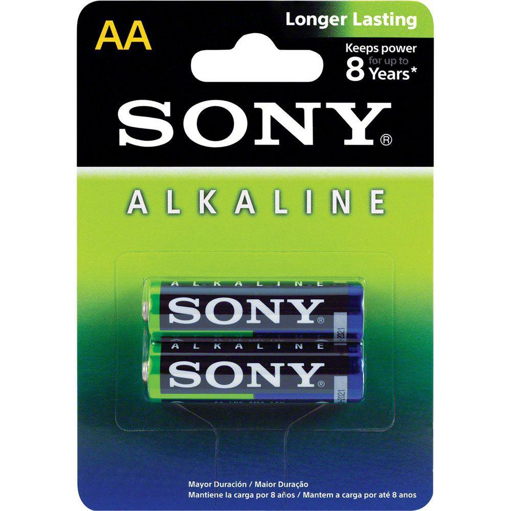 Pilha Alcalina AA (pequena) - Com 2 Pilhas - SONY