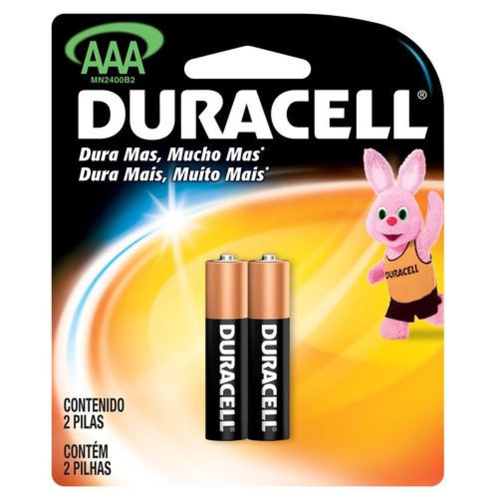 Pilha Alcalina AAA - Com 2 Pilhas - DURACELL