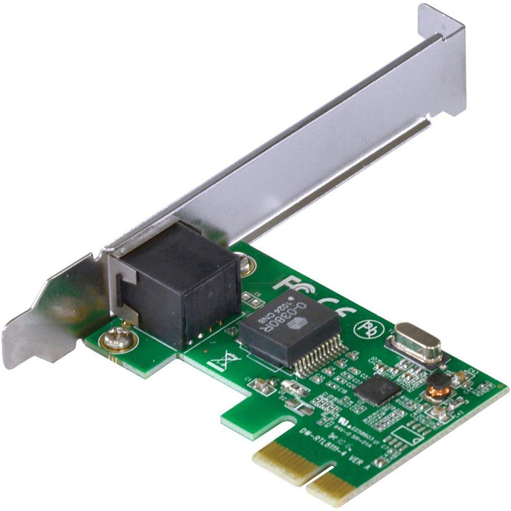 Placa de Rede 10/100 PCI-e - Com Suporte Low Profile