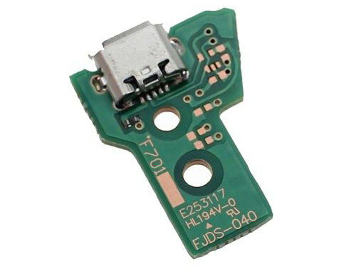 Placa Entrada Usb C/ Cabo Flat - Controle PS4 - JDS040 12 PIN