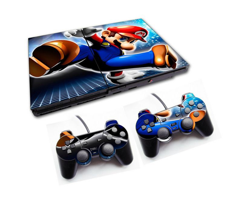 PS2 - Console PlayStation 2 Slim com 2 Controles - Mário Bros 3