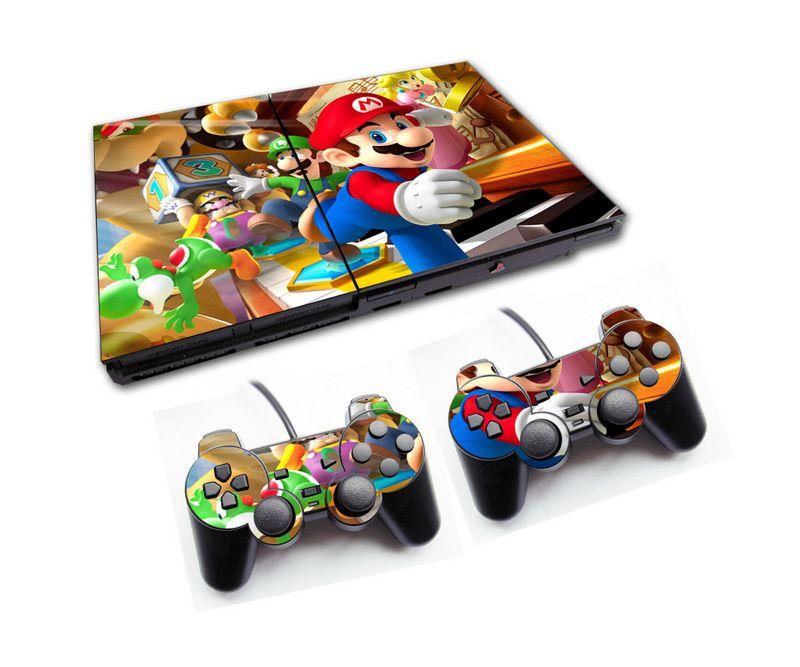 PS2 - Console PlayStation 2 Slim com 2 Controles - Mário Bros 6