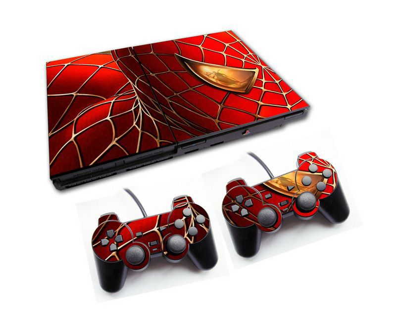 PS2 - Console PlayStation 2 Slim com 2 Controles - Spiderman 1