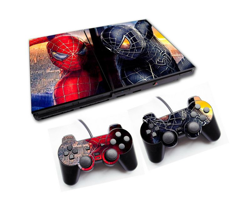 PS2 - Console PlayStation 2 Slim com 2 Controles - Spiderman 3