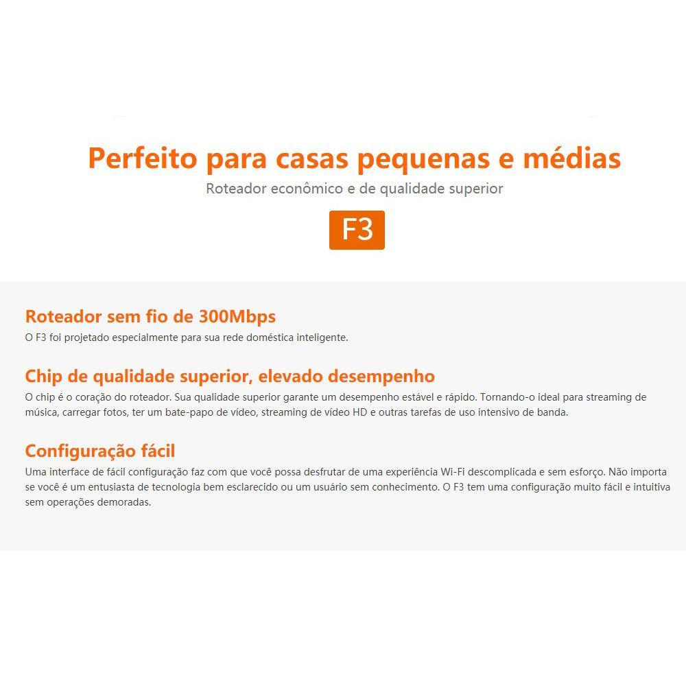 Roteador sem fio de 300Mbps - F3 - Tenda