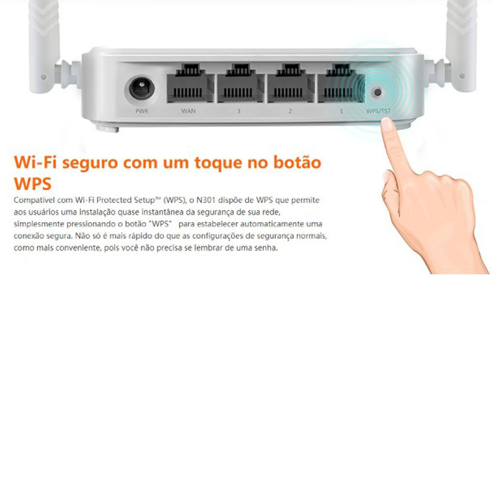 Roteador Wireless N300 - 2 Antenas 300Mpbs - N301 - Tenda