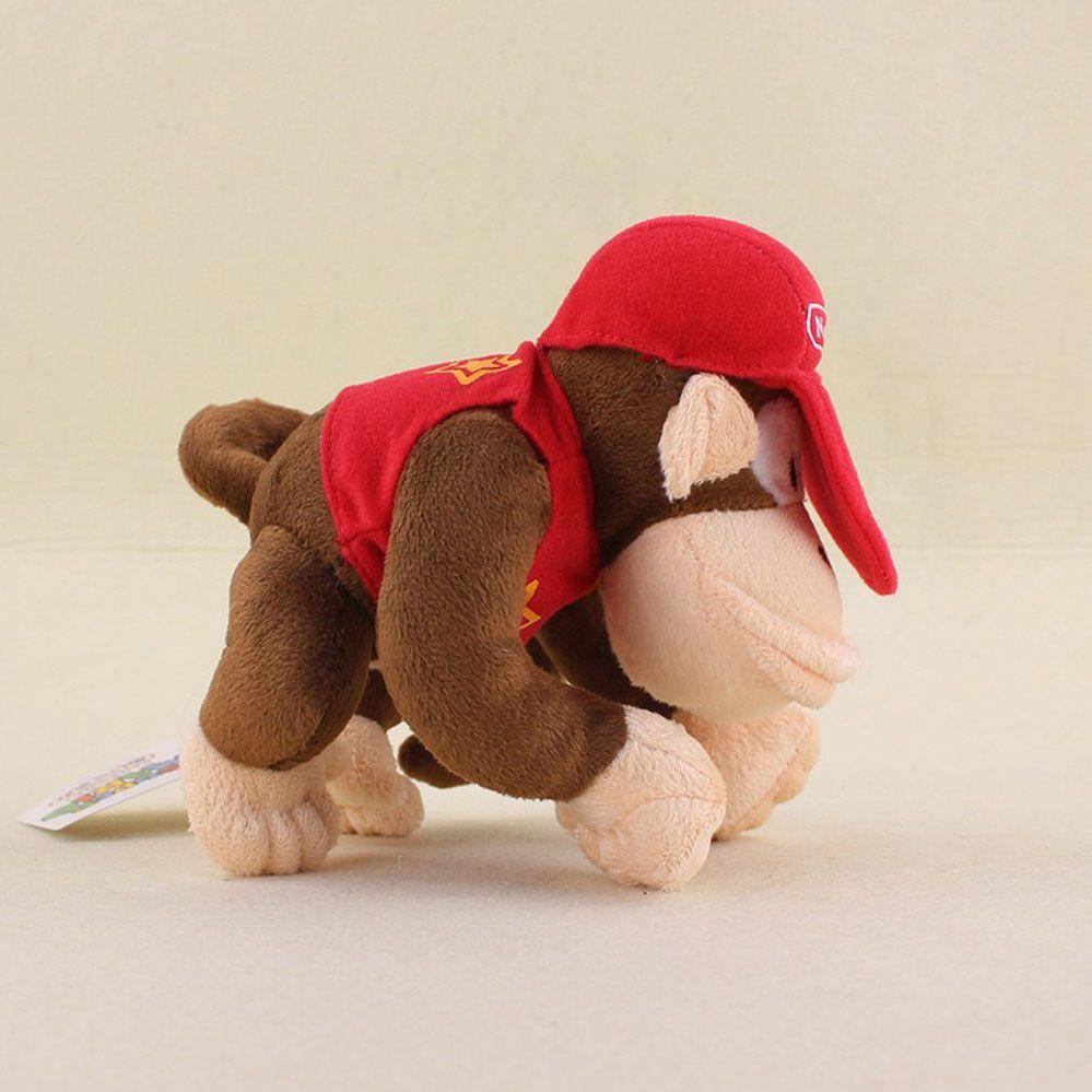 Super Mário - Diddy Kong de Pelúcia 14cm