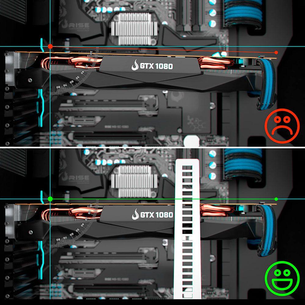 Suporte para Placa de Vídeo - RMSV03BR - Preto e Vermelho - Rise Mode