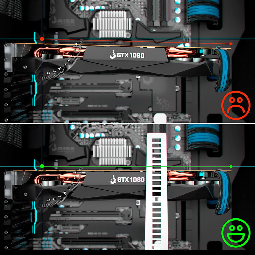 Suporte para Placa de Vídeo - RMSV02SB - Small Black - Rise Mode