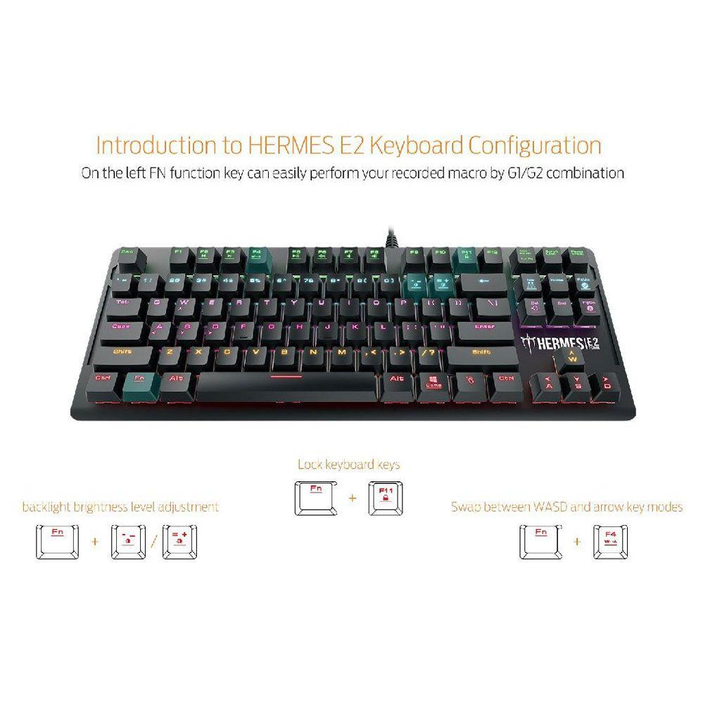 Teclado Gamer Mecânico - Hermes E2 - Gamdias