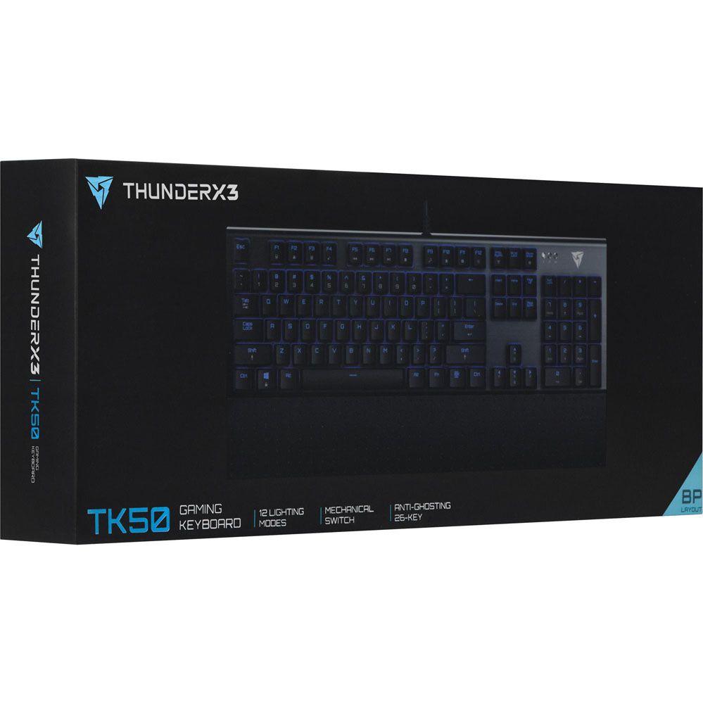Teclado Gamer - Mecânico - TK50 - LED - THUNDERX3