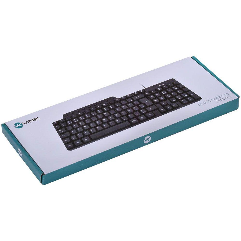 Teclado - Multimídia - USB - Preto - DT115 - Vinik