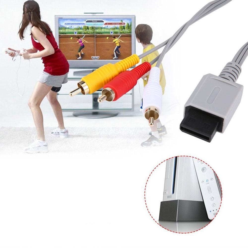 Wii - Cabo AV RCA Áudio e Vídeo para Nintendo Wii e Wii U