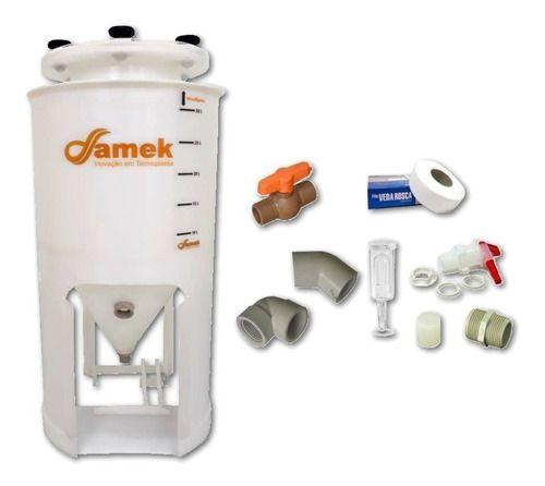 - Fermentador Cônico Para Geladeira 30 L - Kit De Acessórios