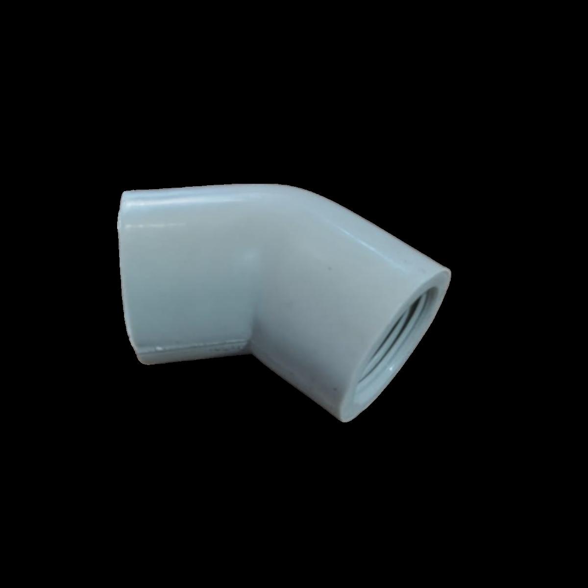 Cotovelo PP 45° Rosca BSP 3/4