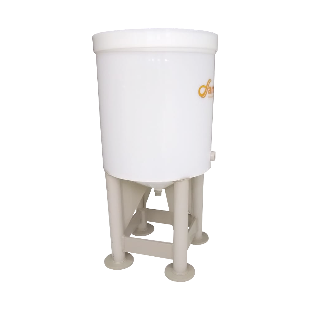 Fermentador Cônico K-Cha Com Pés de Tubo 150 litros - 160 Total.
