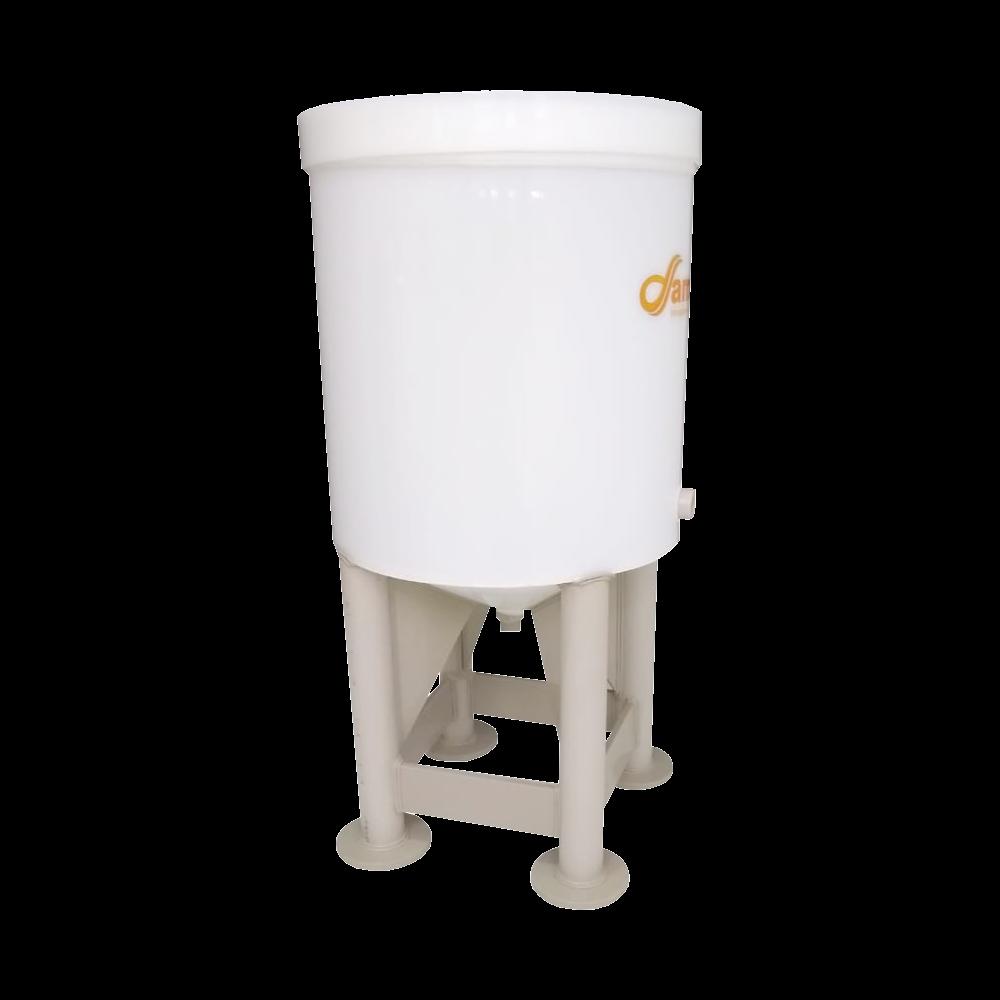 Fermentador Cônico K-Cha Com Pés de Tubo 200 litros - 220 Total.