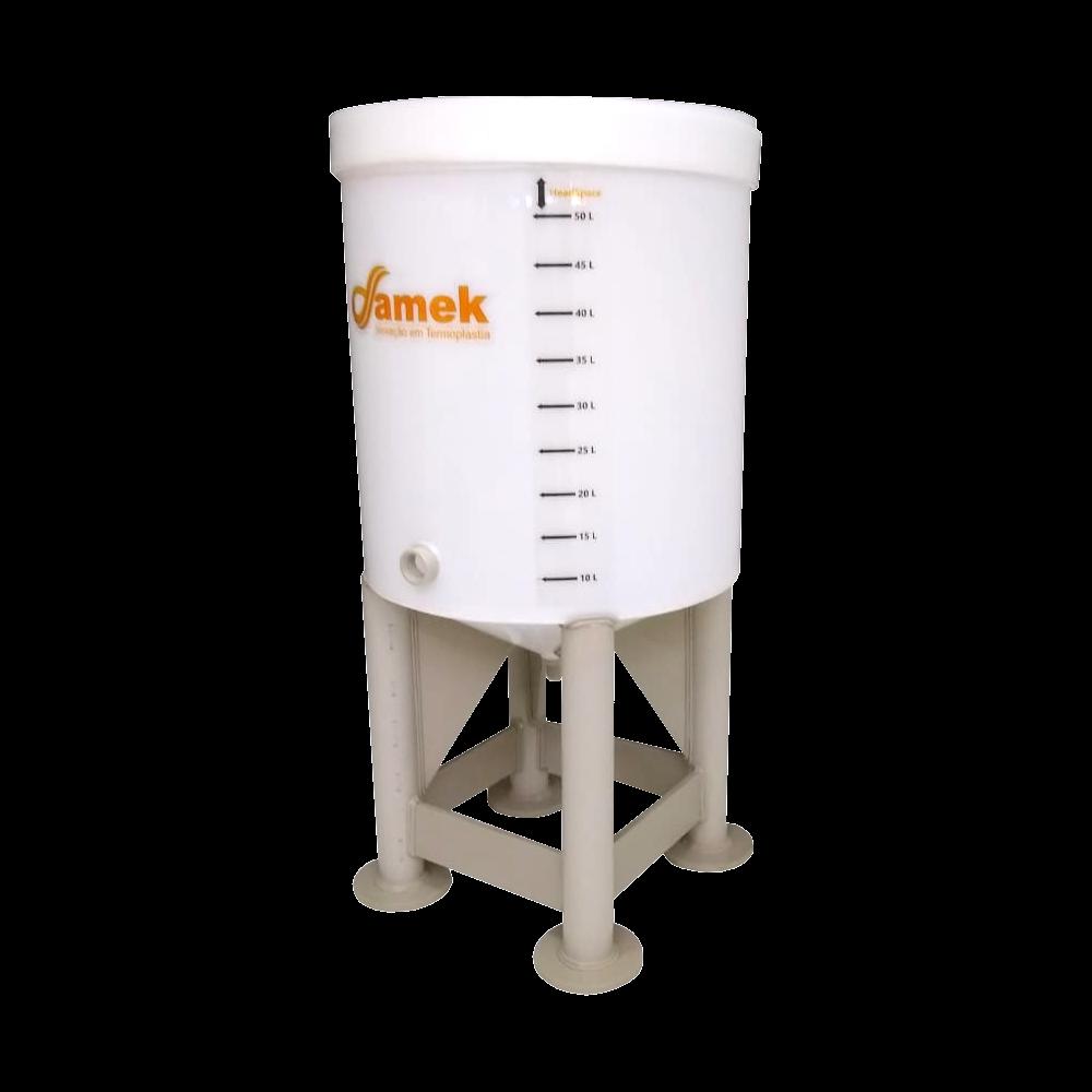 Fermentador Cônico K-Cha Com Pés de Tubo 50 litros - 55 Total.
