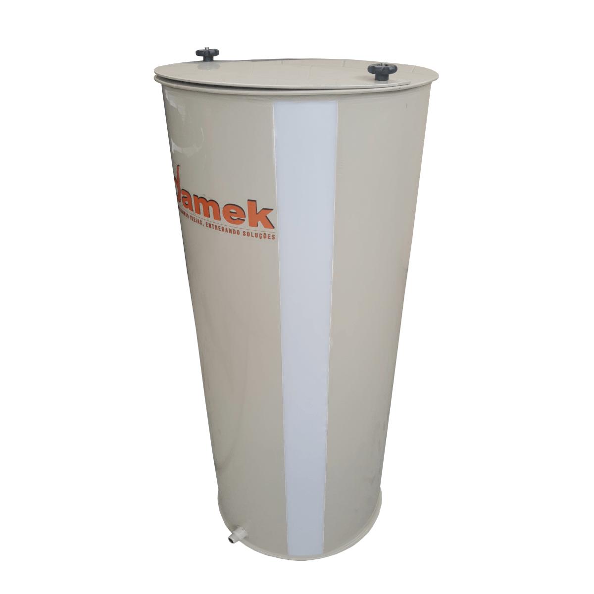 - Reservatório Plástico Com Tampa Articulada 250 L / Atóxico