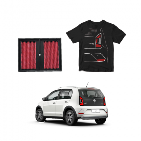 Filtro De Ar Esportivo Inbox VW UP TSI 1.0 Turbo + CAMISETA