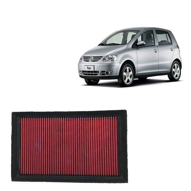 Filtro De Ar Alta Performance VW Fox 1.6 8V MI Flex 2003 a 2008