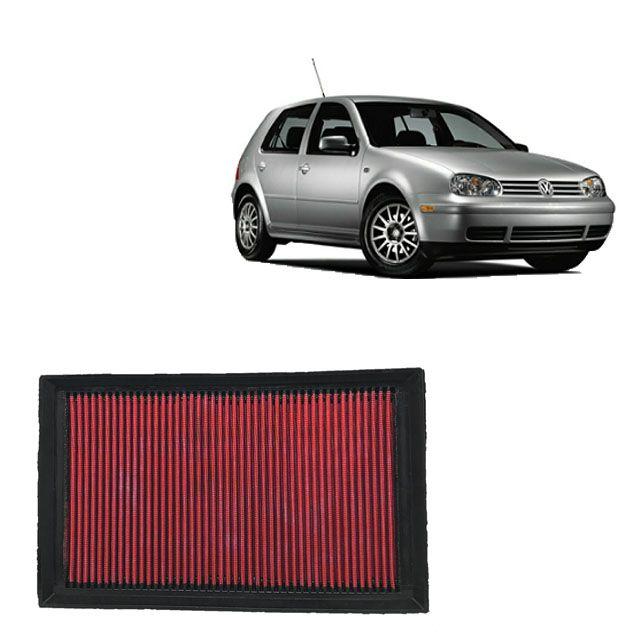 Filtro De Ar Alta Performance VW Golf 1.6 8V MI 2001 a 2011 (Filtro na tampa em cima do motor)